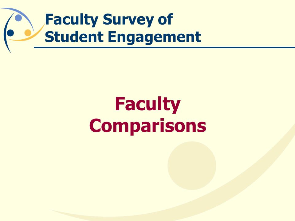 Faculty Survey of Student Engagement Faculty Comparisons