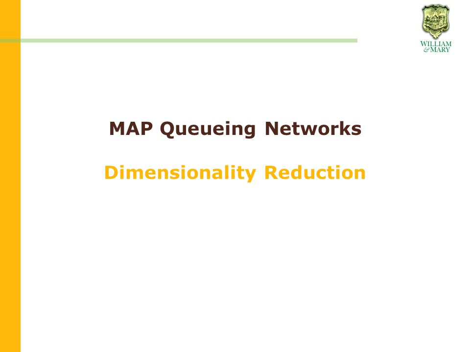 MAP Queueing Networks Dimensionality Reduction