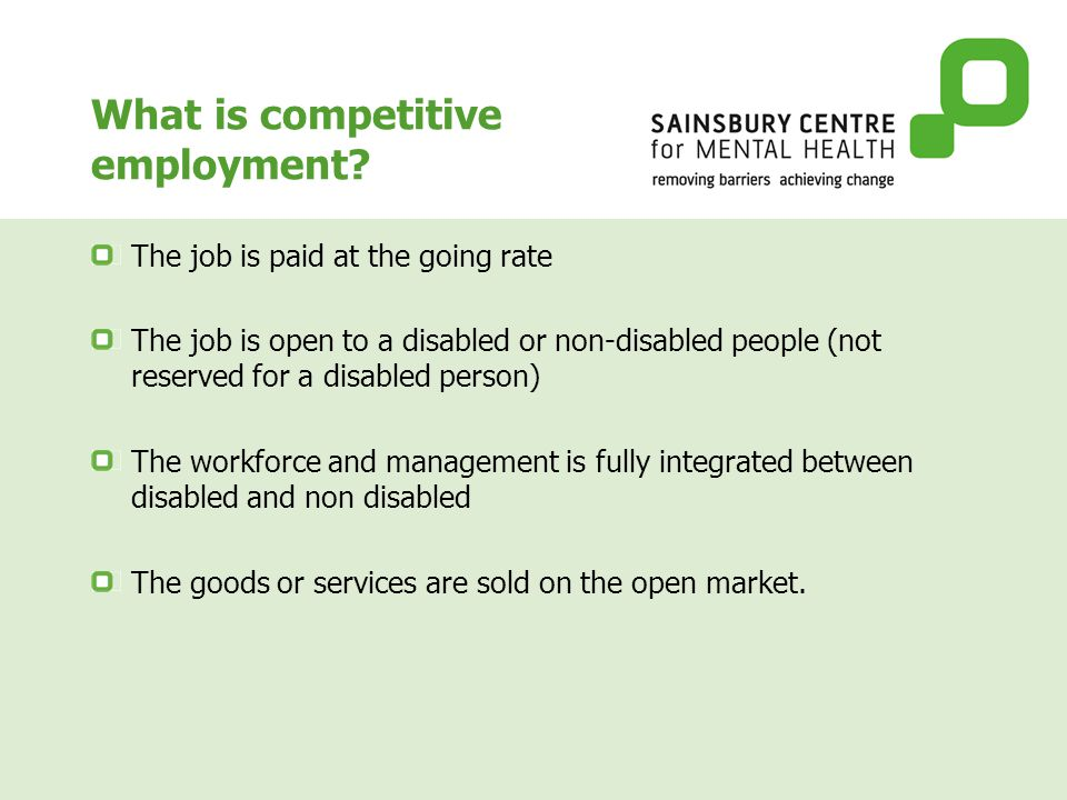 What is competitive employment.