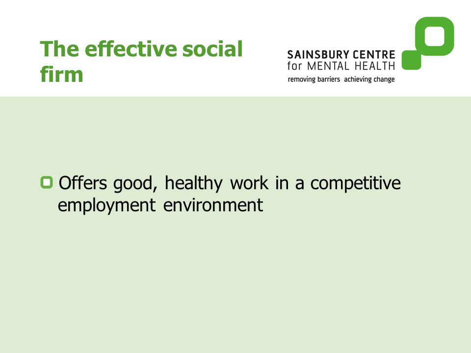 Employment for people with severe mental health problems - what works.