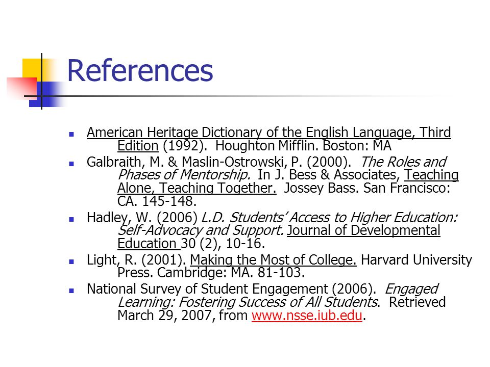 References American Heritage Dictionary of the English Language, Third Edition (1992).