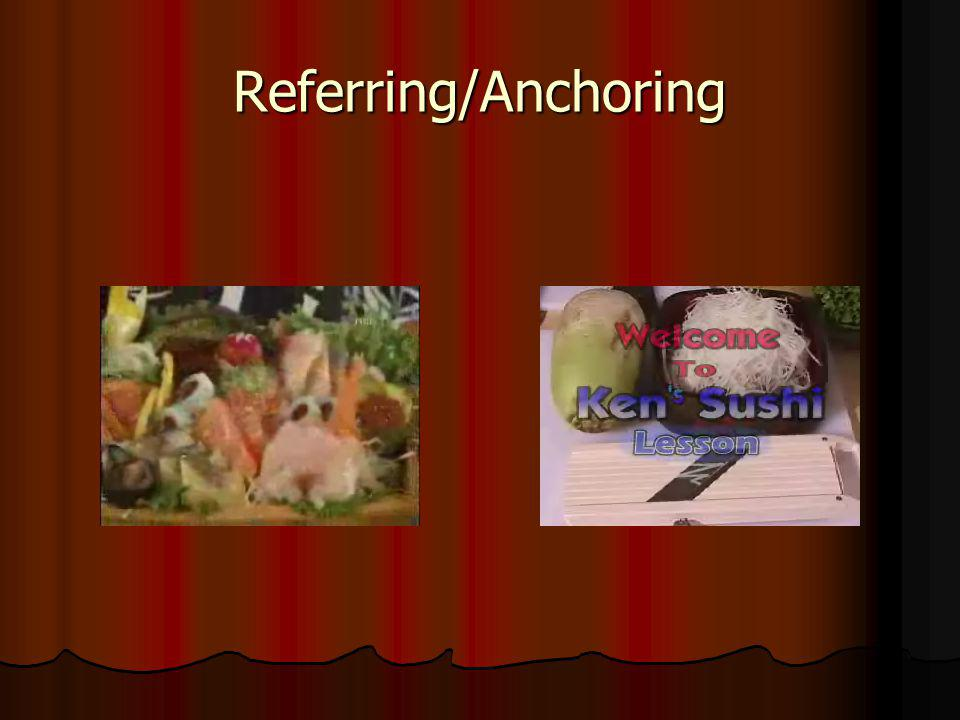 Referring/Anchoring