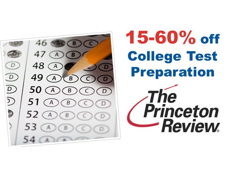 15-60% off College Test Preparation