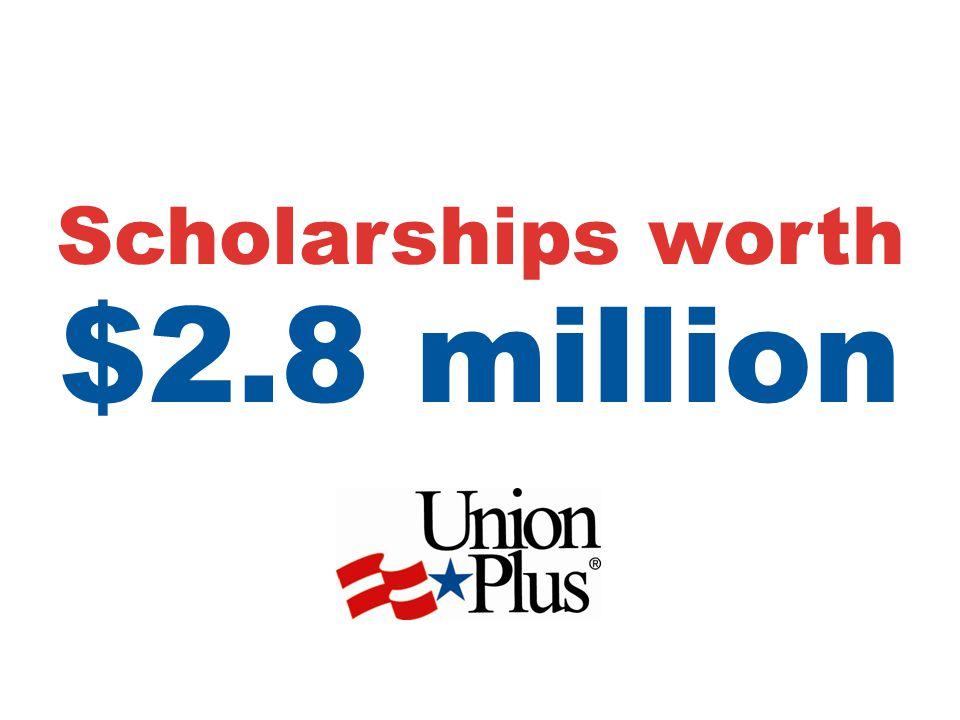 Scholarships worth $2.8 million