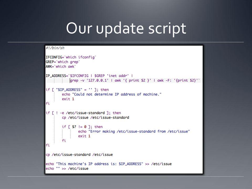 Our update script