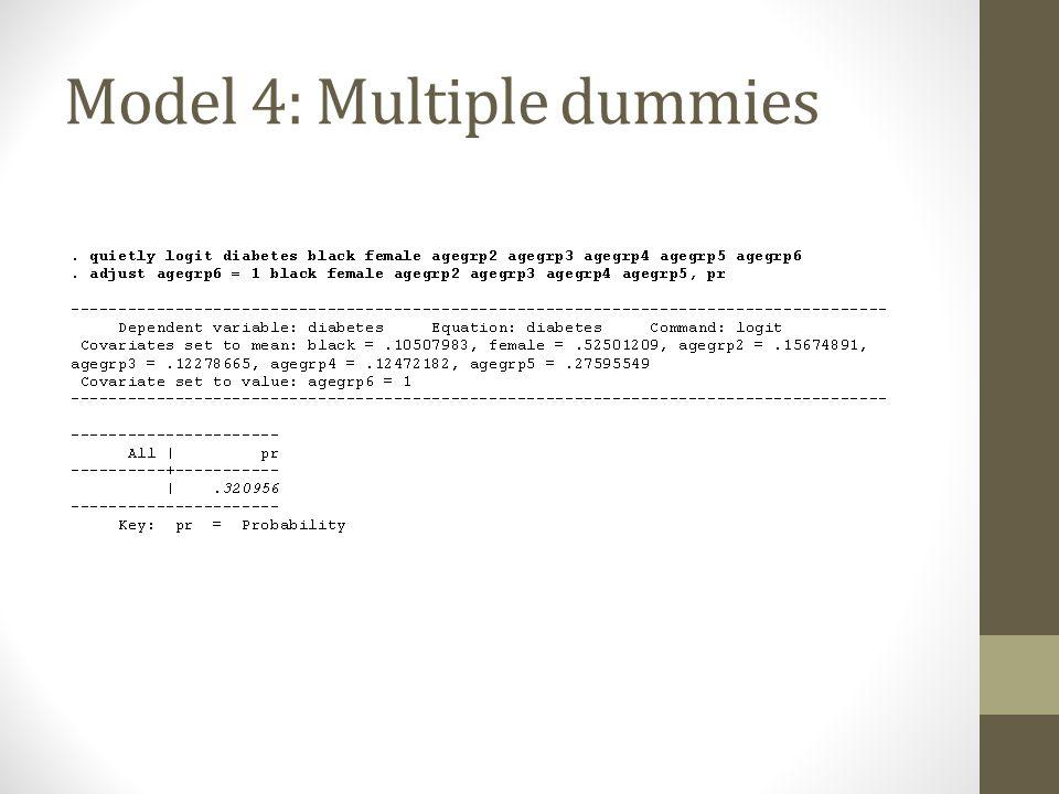 Model 4: Multiple dummies