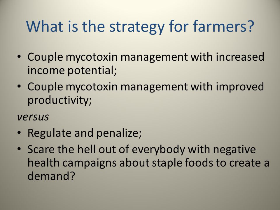 What is the strategy for farmers.