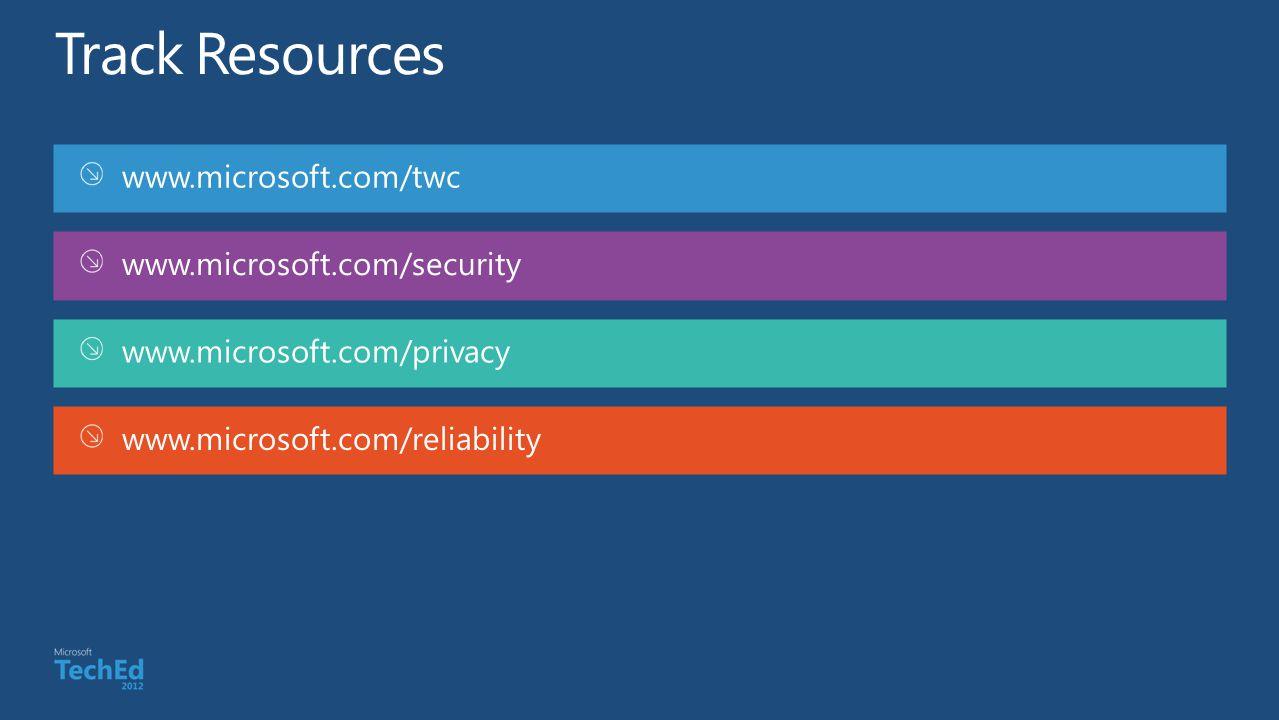 www.microsoft.com/twc www.microsoft.com/security www.microsoft.com/privacy www.microsoft.com/reliability