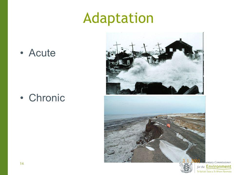 14 Adaptation Acute Chronic