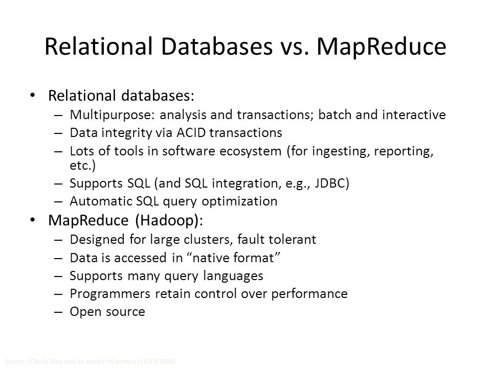 Relational Databases vs.