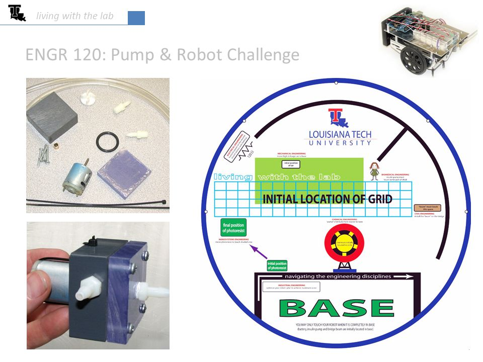 ENGR 120: Pump & Robot Challenge living with the lab 4