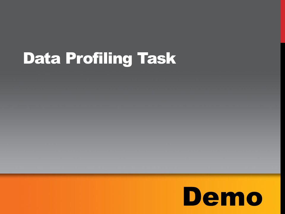 Data Profiling Task