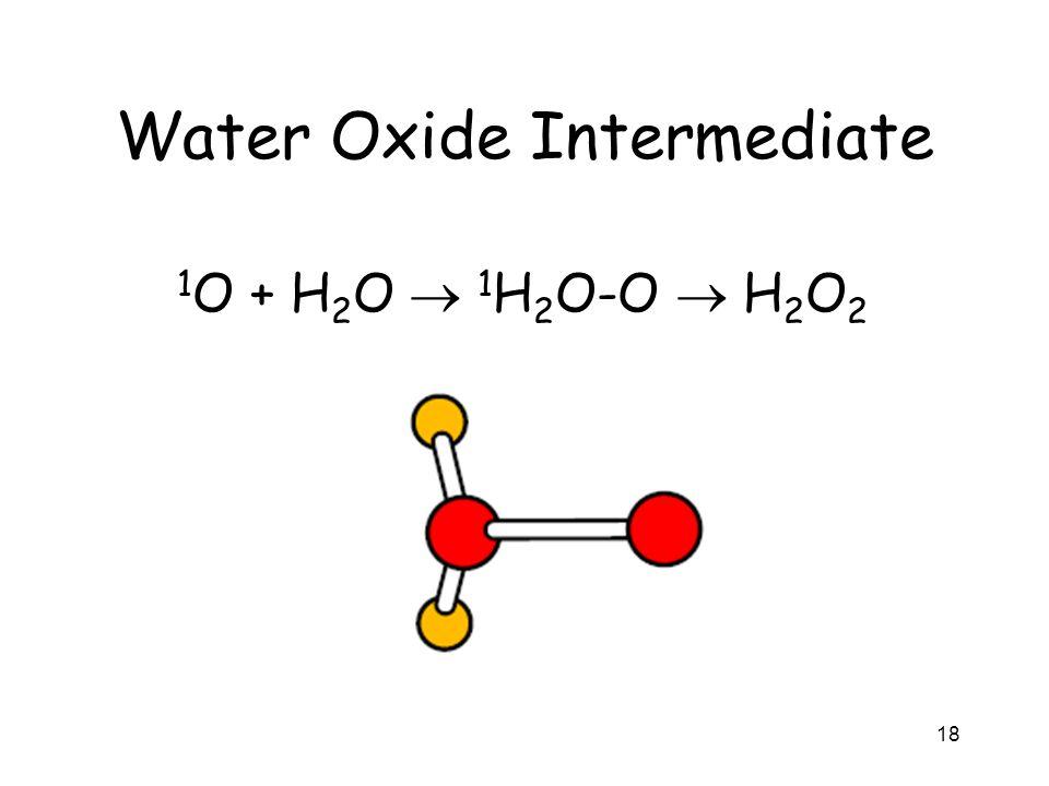 Water Oxide Intermediate 18 1 O + H 2 O 1 H 2 O-O H 2 O 2