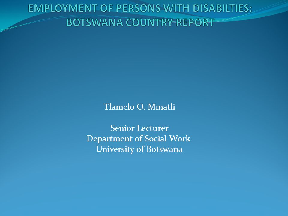 Cont When these policies and programmes were designed access for people with disabilities were not considered Not even reference to them or their issues.