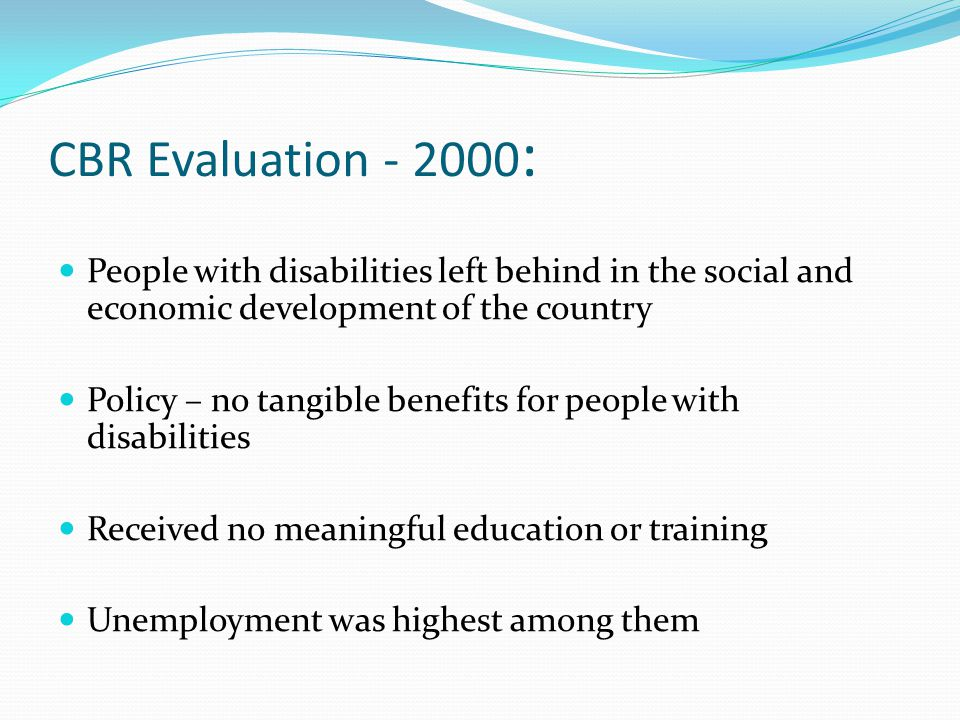 Recent Developments Growing awareness generally in recent years particularly regarding the unemployment status of people with disabilities