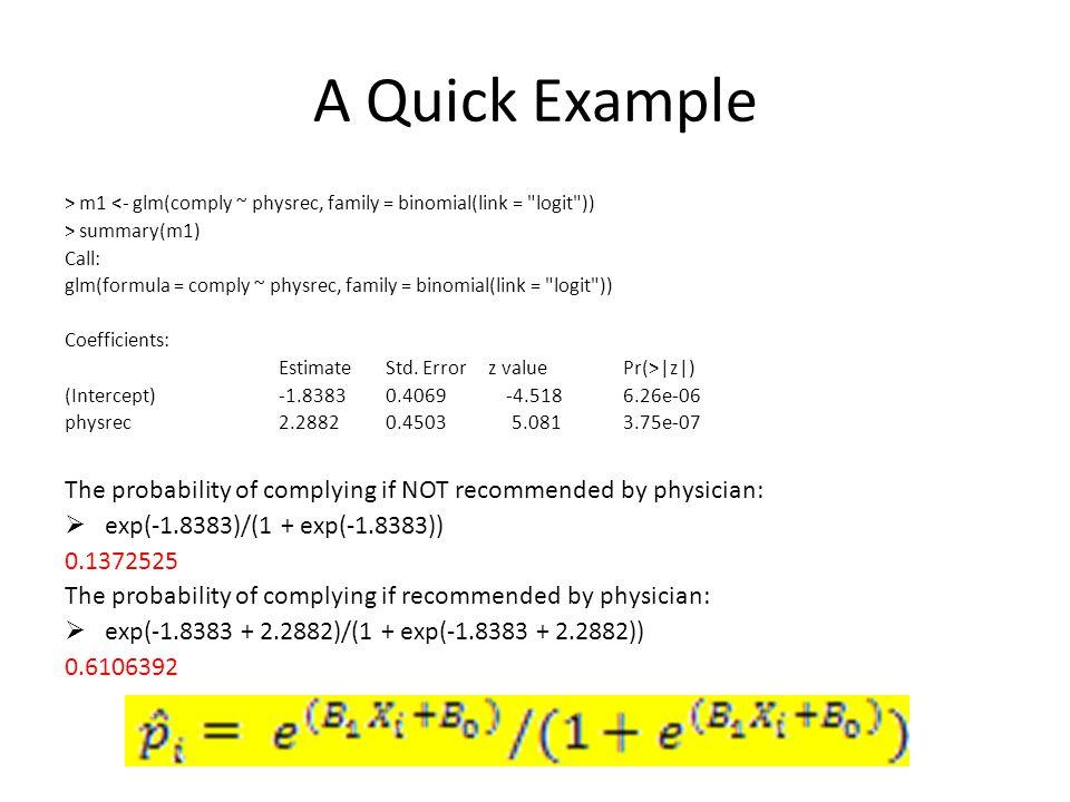 Adding Multiple Predictors > summary(m2 <- bayespolr(as.ordered(apply)~gpa + pared + public,data=mydata)) Call: bayespolr(formula = as.ordered(apply) ~ gpa + pared + public, data = mydata) Coefficients: Value Std.