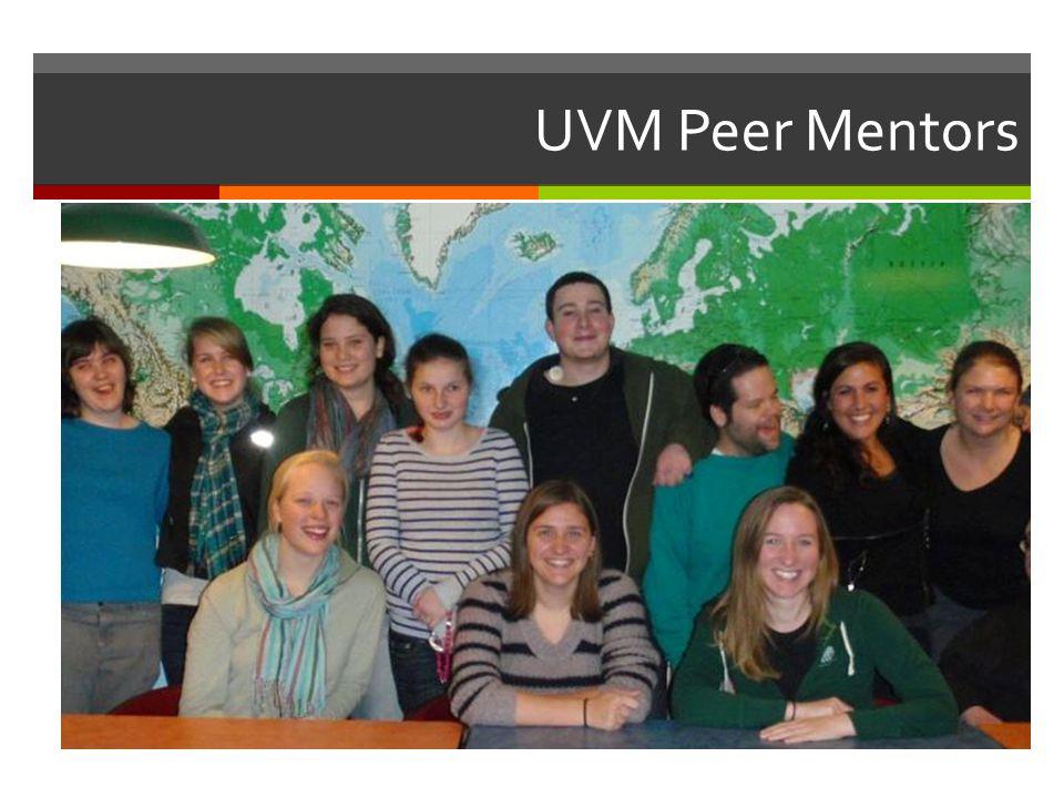 UVM Peer Mentors