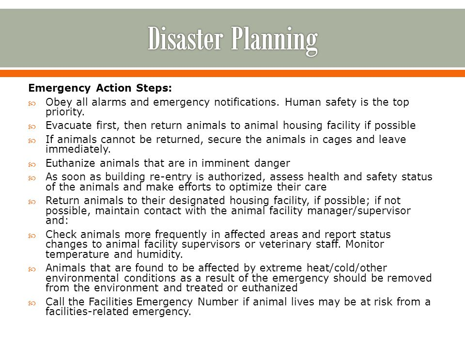 Emergency Action Steps: Obey all alarms and emergency notifications.