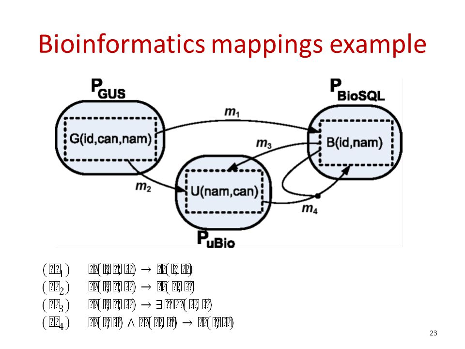 Bioinformatics mappings example 23