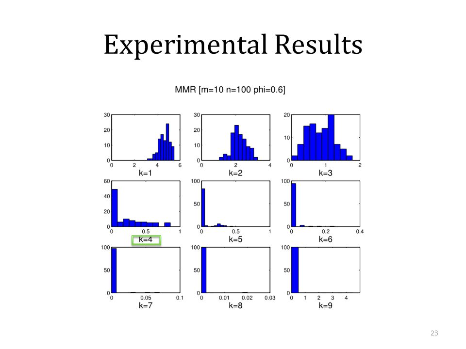Experimental Results 23