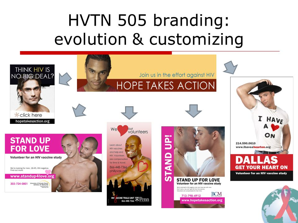 HVTN 505 branding: evolution & customizing