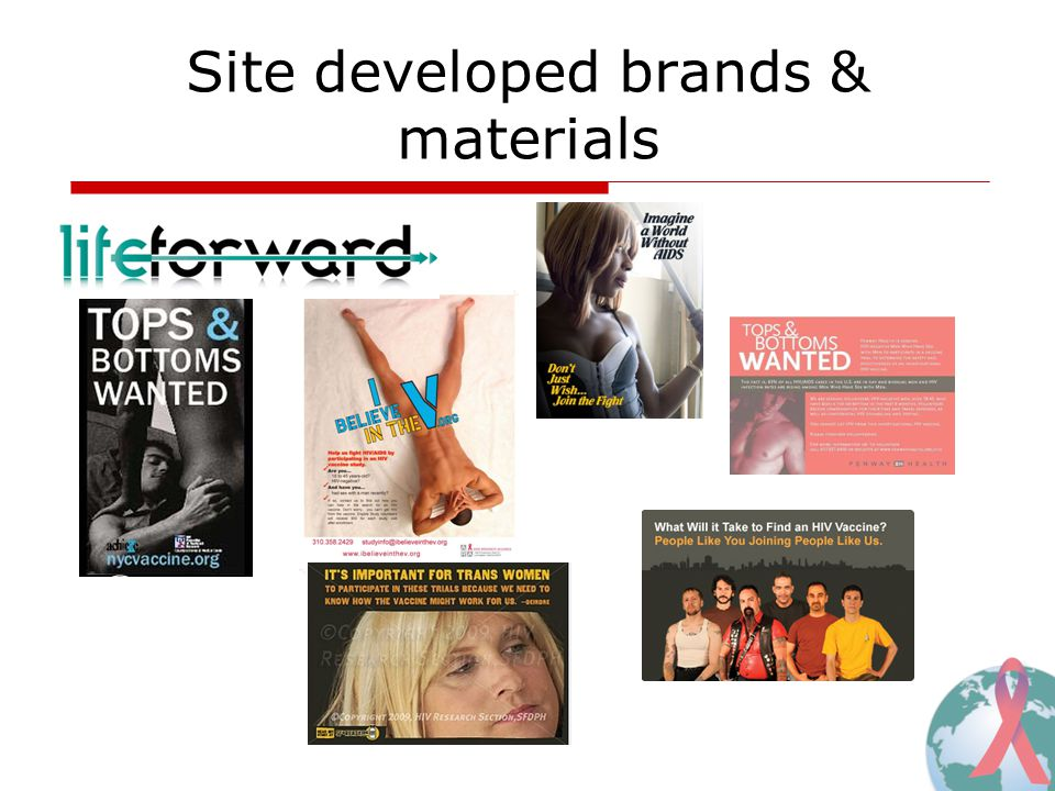 Site developed brands & materials