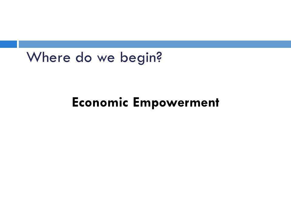 Economic Empowerment Where do we begin