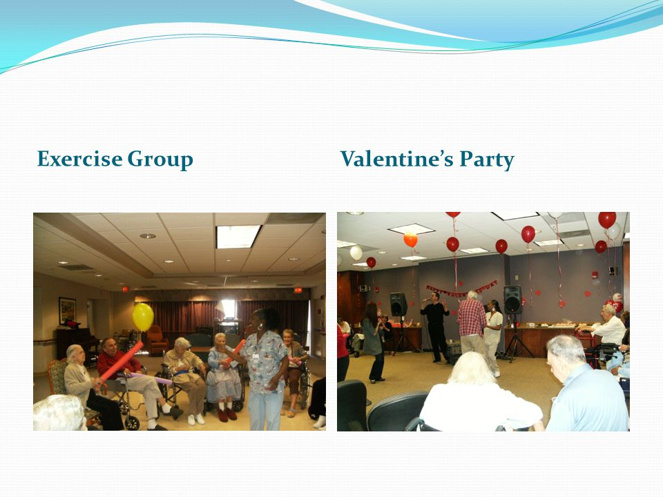 Exercise Group Valentines Party