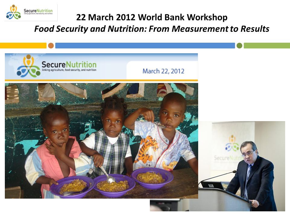 22 March 2012 World Bank Workshop Food Security and Nutrition: From Measurement to Results