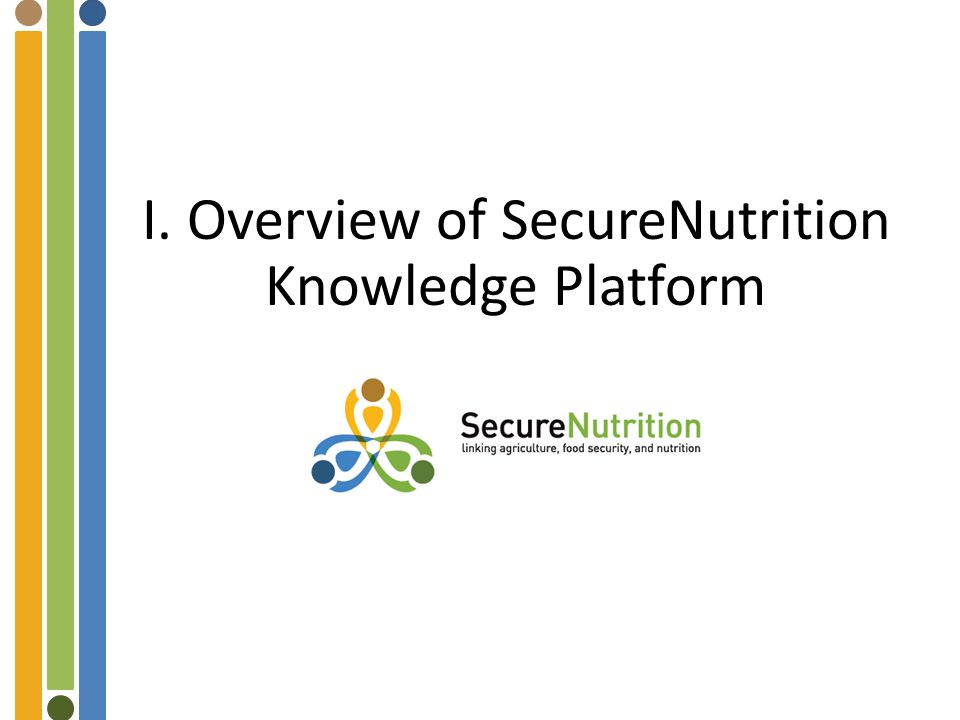 I. Overview of SecureNutrition Knowledge Platform