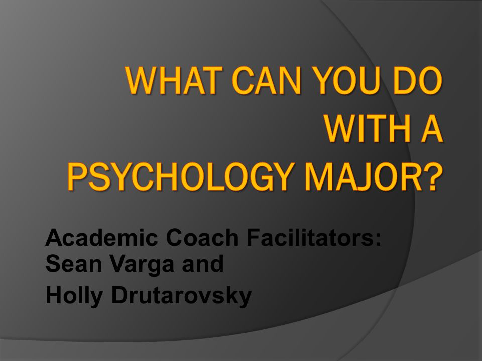Academic Coach Facilitators: Sean Varga and Holly Drutarovsky