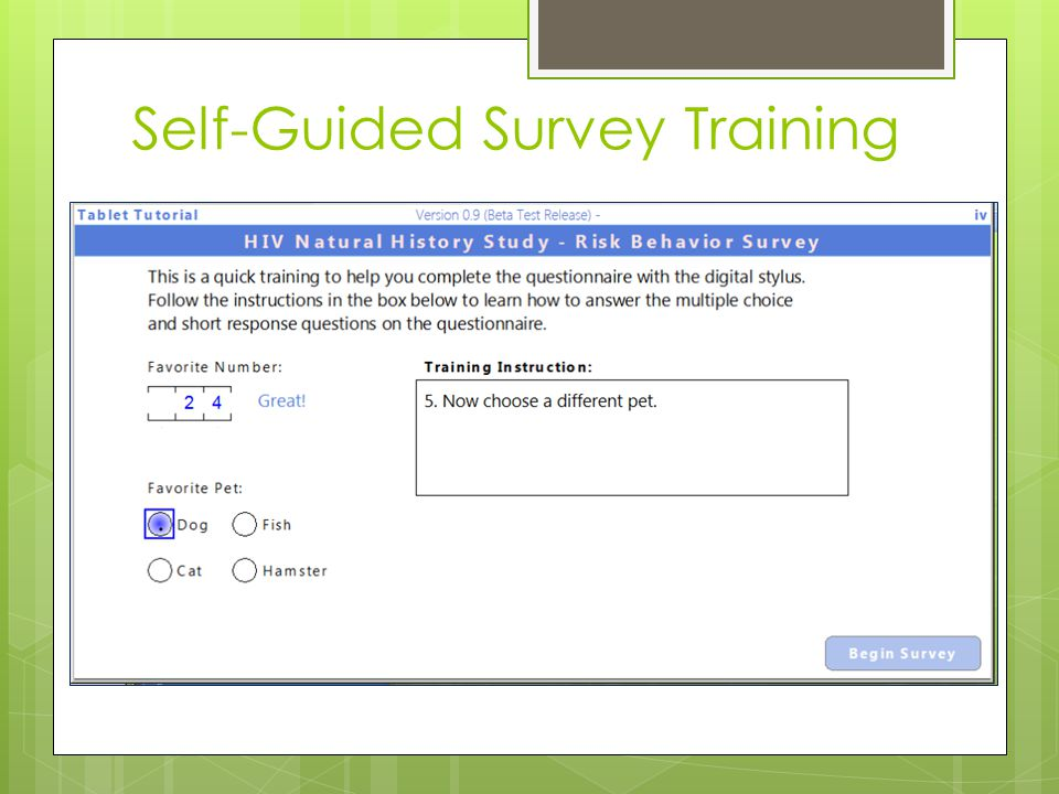 Self-Guided Survey Training