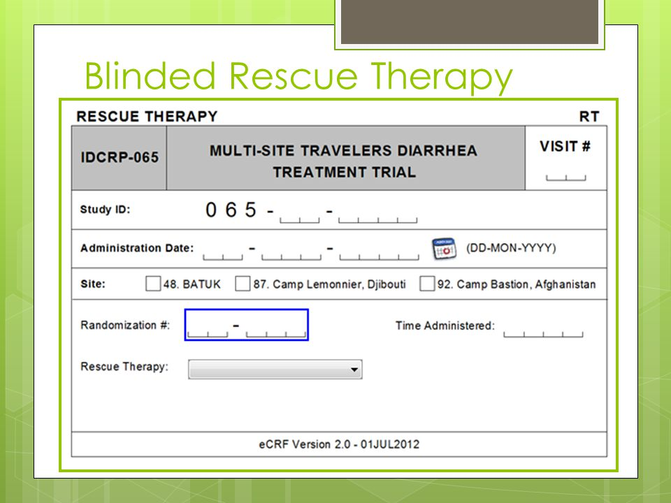 Blinded Rescue Therapy