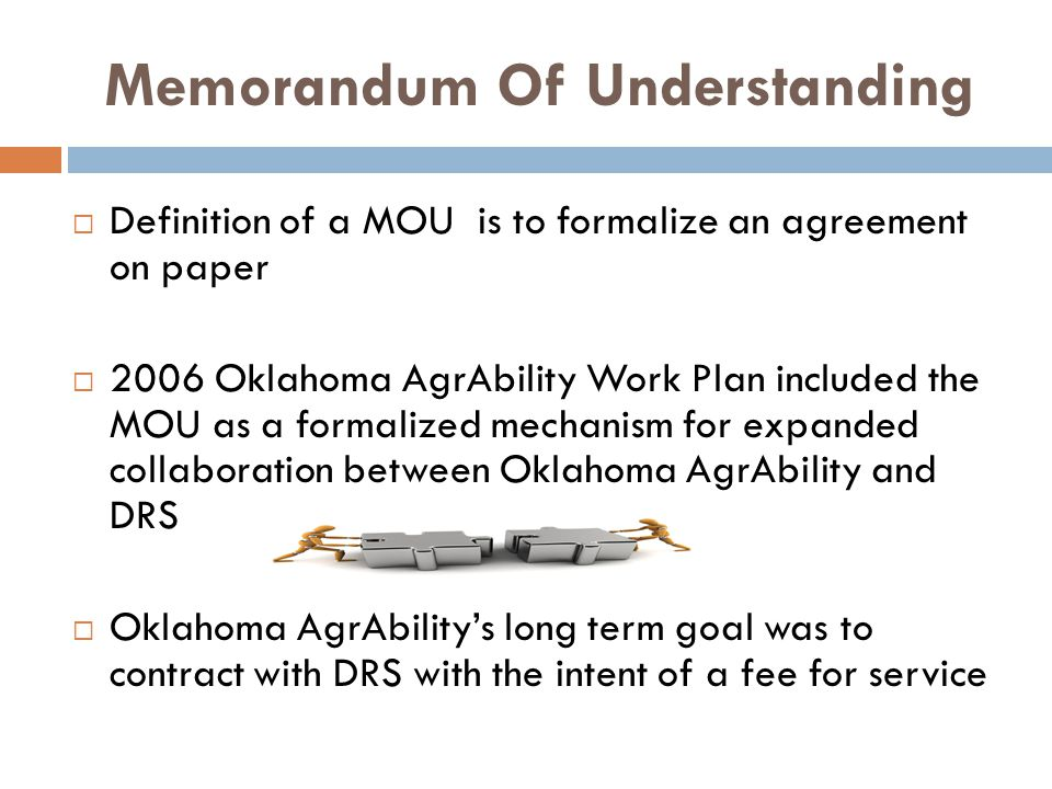 MOU FRAME WORK PURPOSE CURRENT STATUS ACHIEVEMENTS TO DATE SCOPE UNDERSTANDING ROLES AND RESPONSIBILITIES PROJECTED OUTCOMES