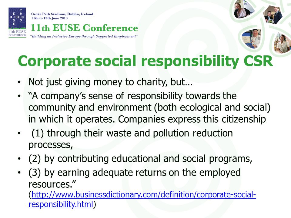 A learning experience An alliance between private sector and a NGO can be very fruitful: – The NGO can support the company in finding a good way to show social responsibility through eg.