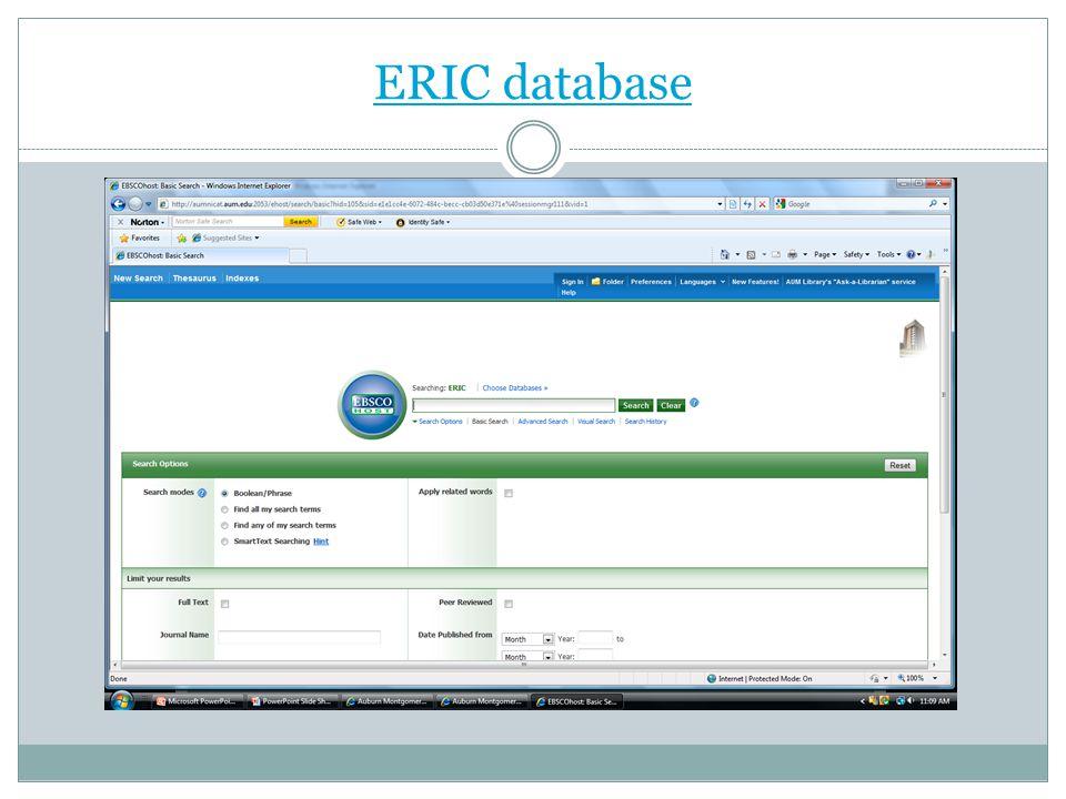 ERIC database