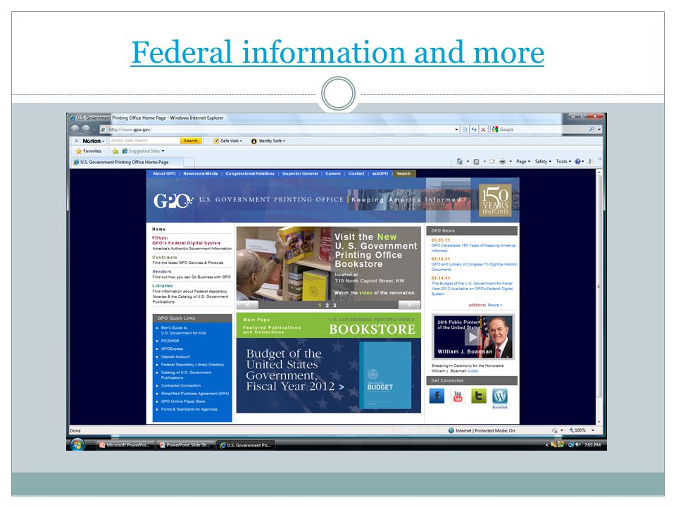 Federal information and more