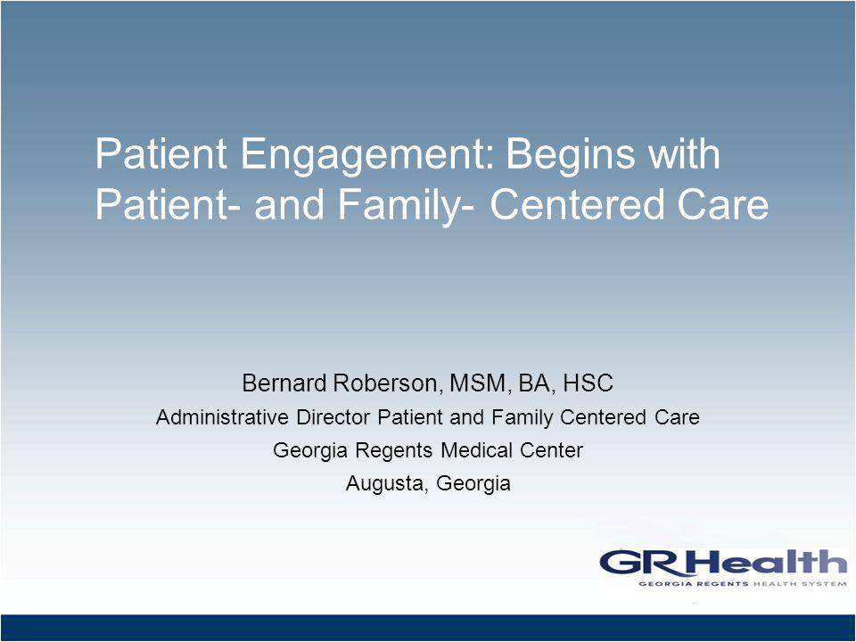 Partner With Patients and Families… …at the Institutional Level …at the Program Level …at the Care Level