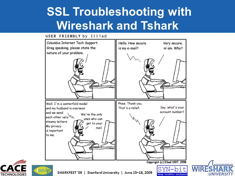 SHARKFEST '09 | Stanford University | June 15–18, 2009 SSL Troubleshooting with Wireshark and Tshark