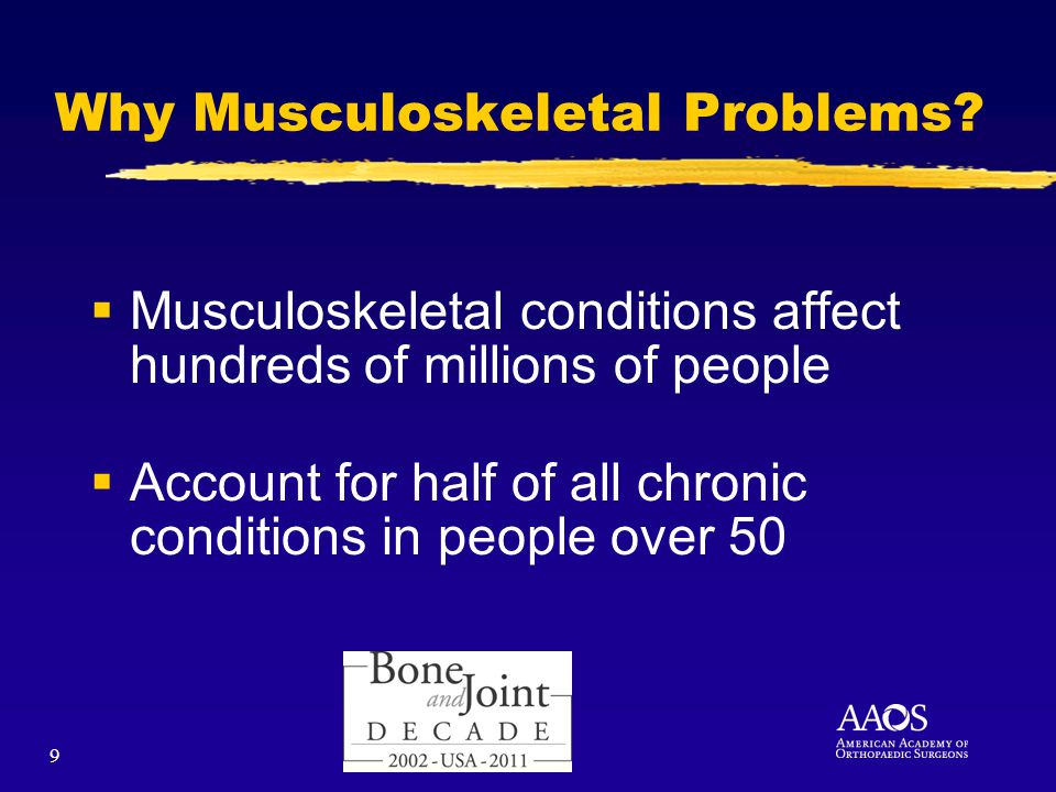 9 Why Musculoskeletal Problems.