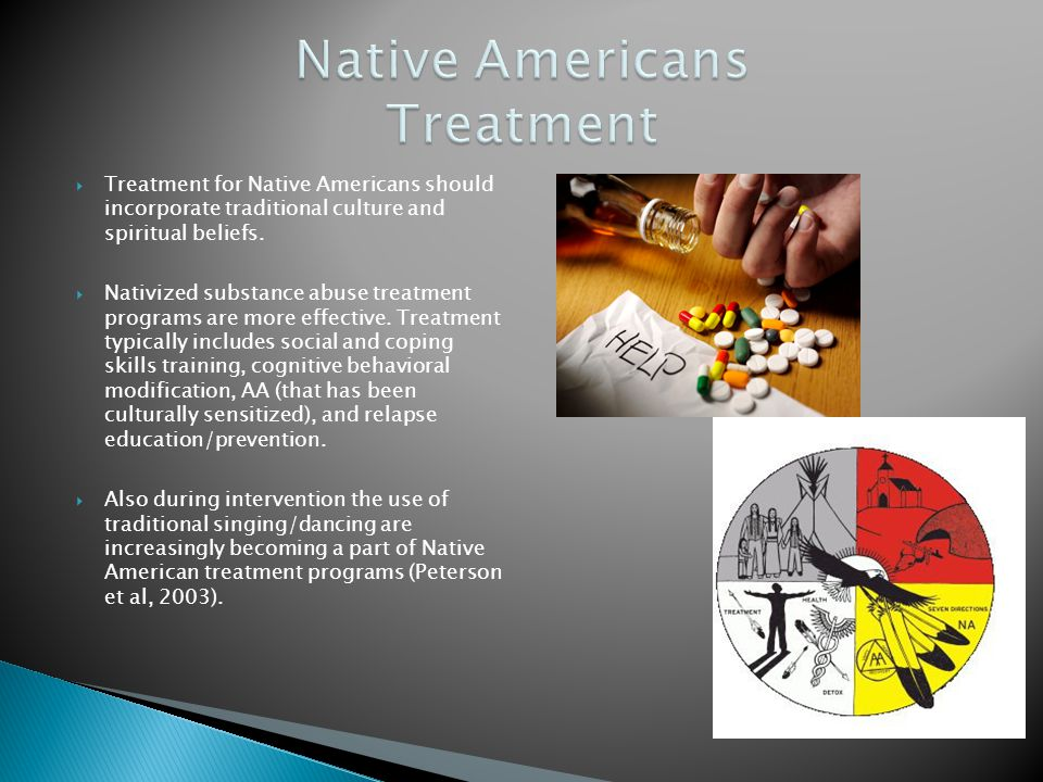... beliefs. Nativized substance abuse treatment programs are more eff
