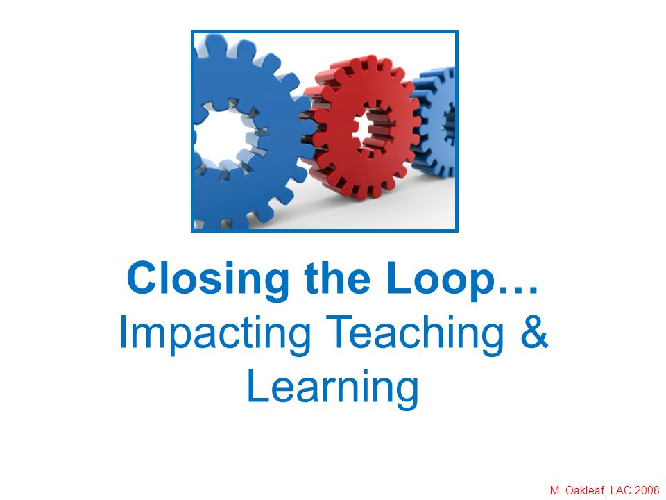 M. Oakleaf, LAC 2008 Closing the Loop… Impacting Teaching & Learning