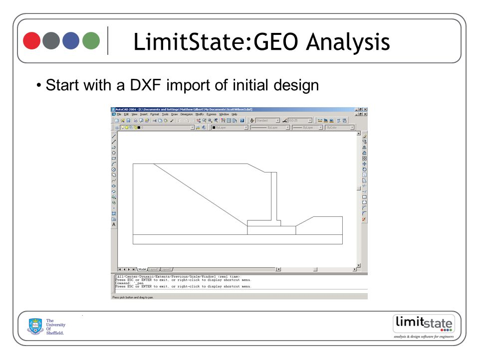 LimitState:GEO Analysis Start with a DXF import of initial design