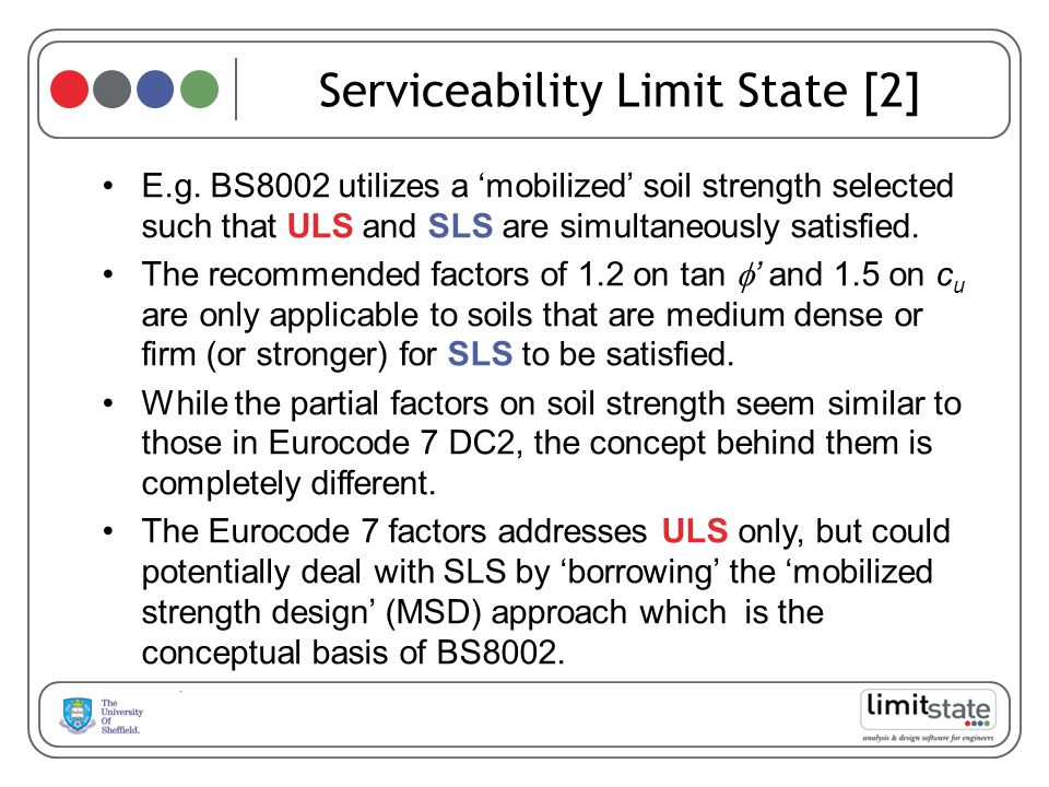 Serviceability Limit State [2] E.g.