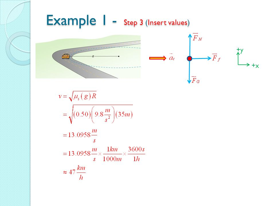 Example 1 - Step 3 (Insert values) +y +x