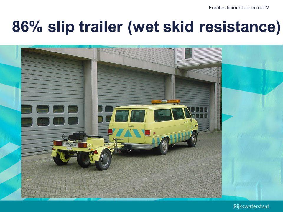 Enrobe drainant oui ou non? 86% slip trailer (wet skid resistance)
