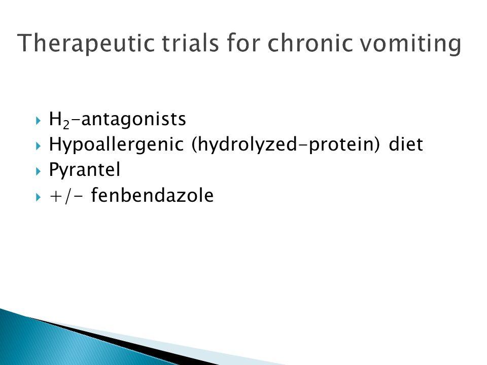 H 2 -antagonists Hypoallergenic (hydrolyzed-protein) diet Pyrantel +/- fenbendazole