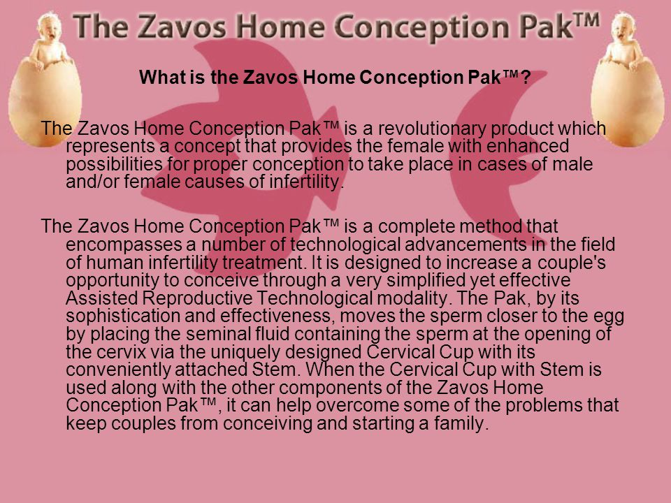What is the Zavos Home Conception Pak.