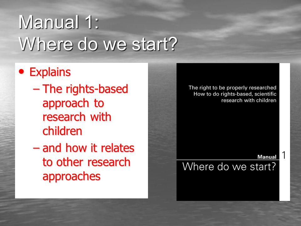 Manual 1: Where do we start.