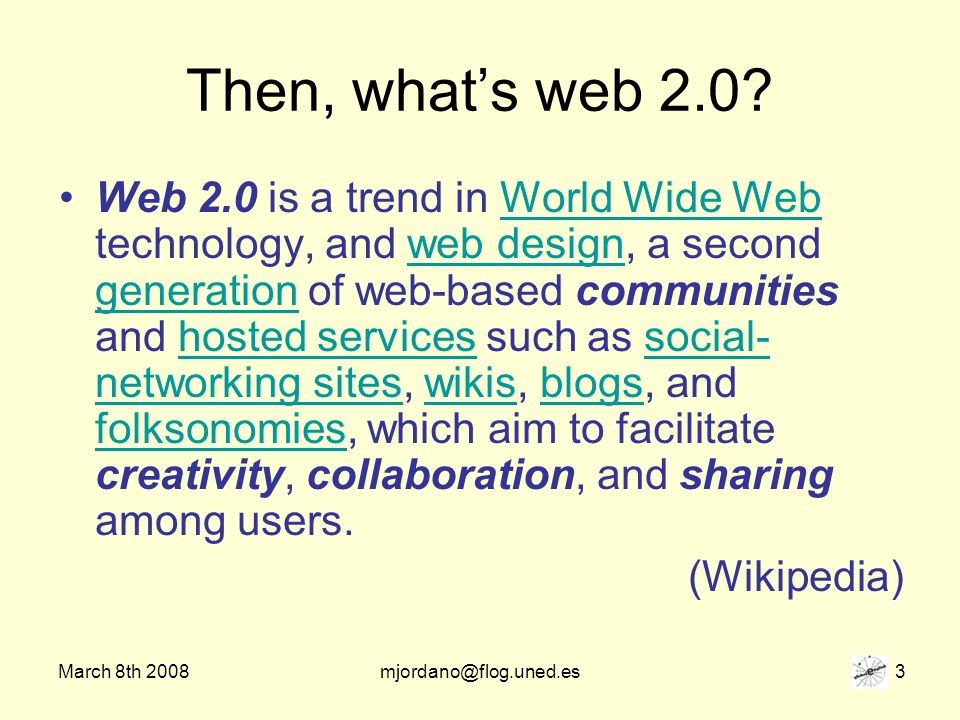March 8th 2008mjordano@flog.uned.es 34 What does this have to do with Global English….